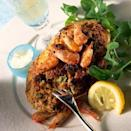 """<p>Get the ultimate results from this Hot devilled crab recipe by serving up the crab in its shell, alongside a rocket salad, prawns, lemon slices and grated Parmesan.</p><p><strong>Recipe: <a href=""""https://www.goodhousekeeping.com/uk/food/recipes/a537694/hot-devilled-crab/"""" rel=""""nofollow noopener"""" target=""""_blank"""" data-ylk=""""slk:Hot devilled crab"""" class=""""link rapid-noclick-resp"""">Hot devilled crab</a></strong></p>"""