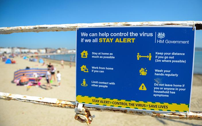 A sign of the times in Weymouth last summer - Getty