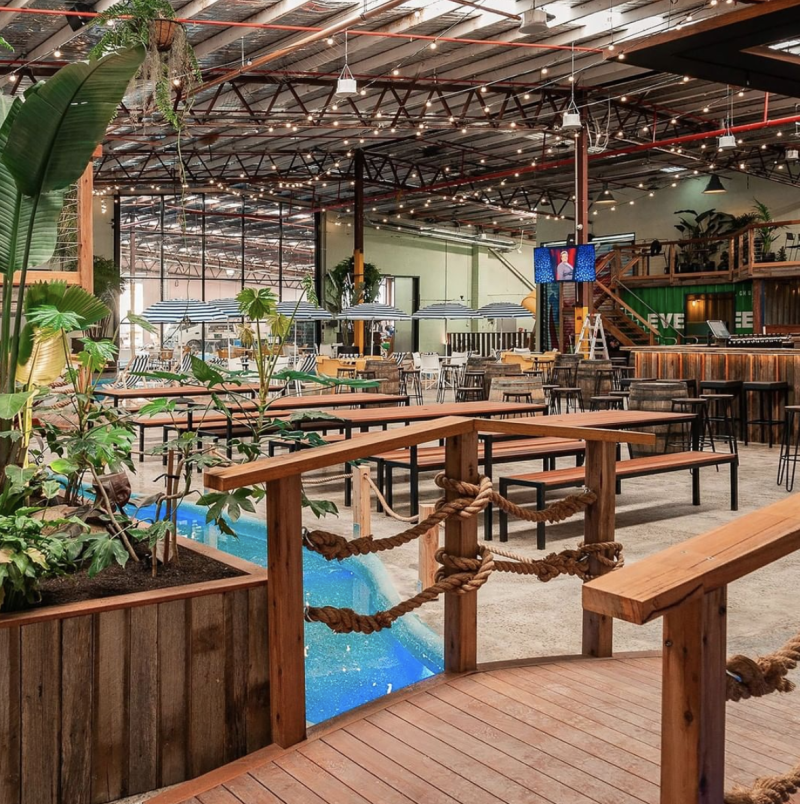 The interior of Melbourne restaurant and bar Moon Dog World