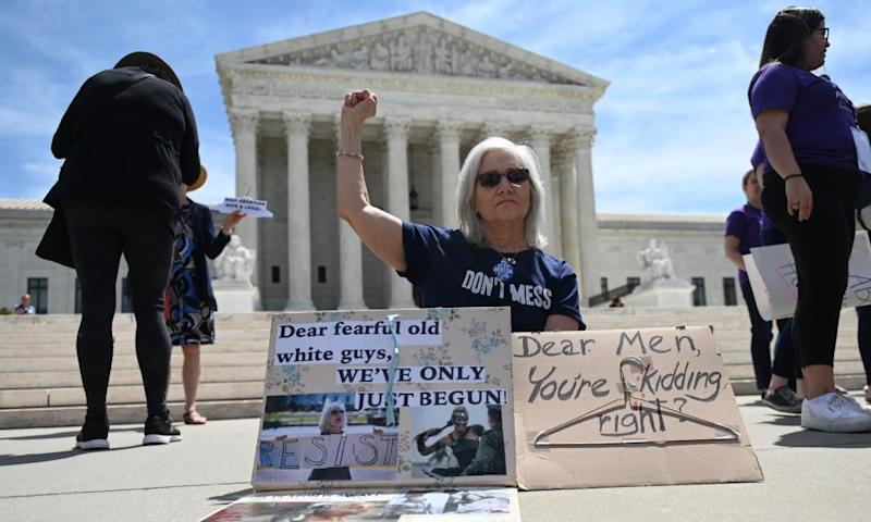 Demonstrations were planned across the US on Tuesday in defense of abortion rights, which activists see as increasingly under attack.