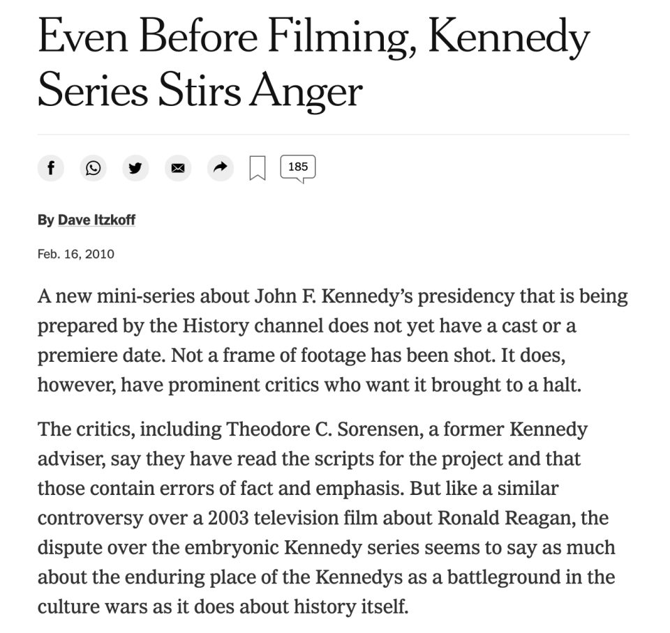 The criticism began even before the series was cast. (Photo: New York Times)