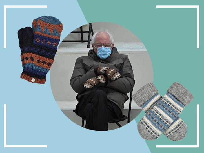 <p>Bundle up in Bernie-inspired style this winter with your own pair of cosy mitts</p> (iStock/The Independent)