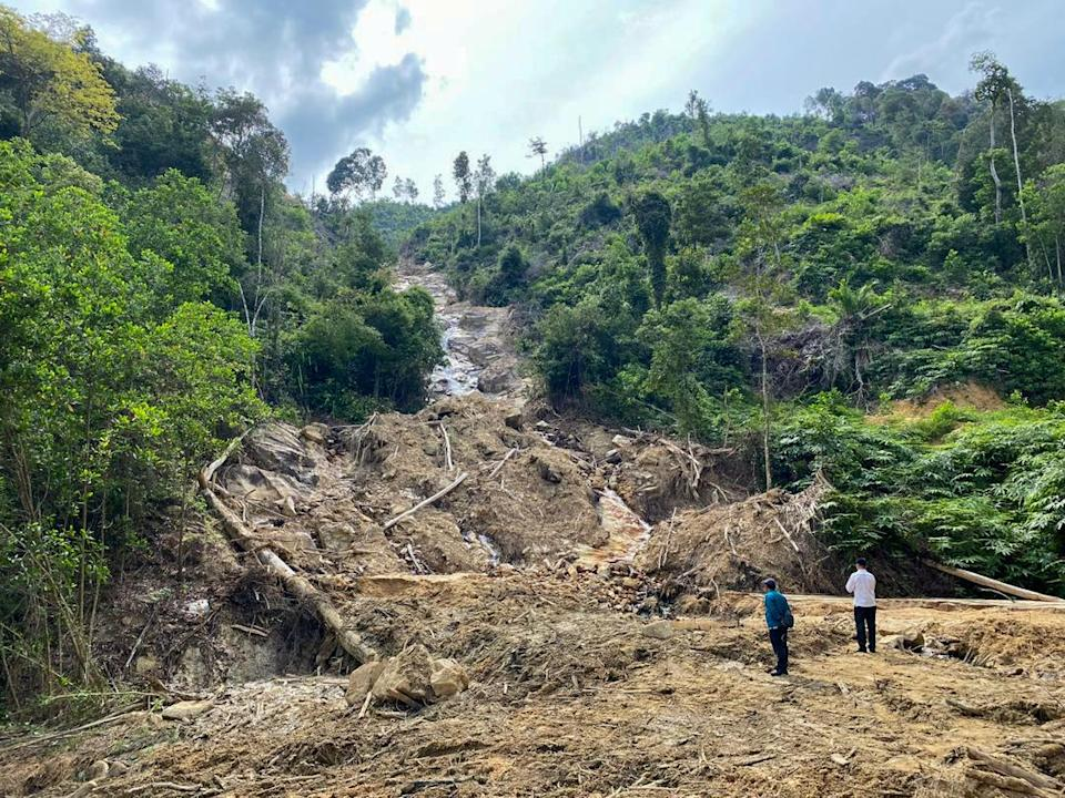 A general view of soil erosion at waterways near the Segari Melintang Forest Reserve January 22, 2021. — Picture courtesy of the Perak Health, Science, Environment and Green Technology Committee chairman's Office