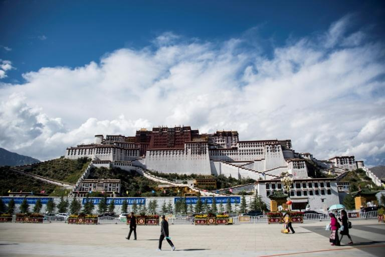 The iconic Potala Palace in Tibet's regional capital of Lhasa