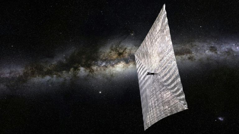 Avi Loeb believes 'Oumuamuah could be a lightsail, such as those sent into space by the Plantary Society and seen in this artist's rendering