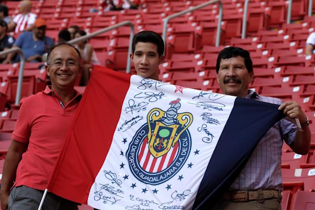 Soccer Football - CONCACAF Champions League Final Second Leg - Guadalajara vs Toronto FC - Estadio Akron, Guadalajara, Mexico - April 25, 2018 Guadalajara fans before the match REUTERS/Henry Romero