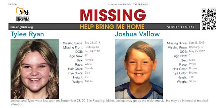 Tylee Ryan and J.J. Vallow Missing