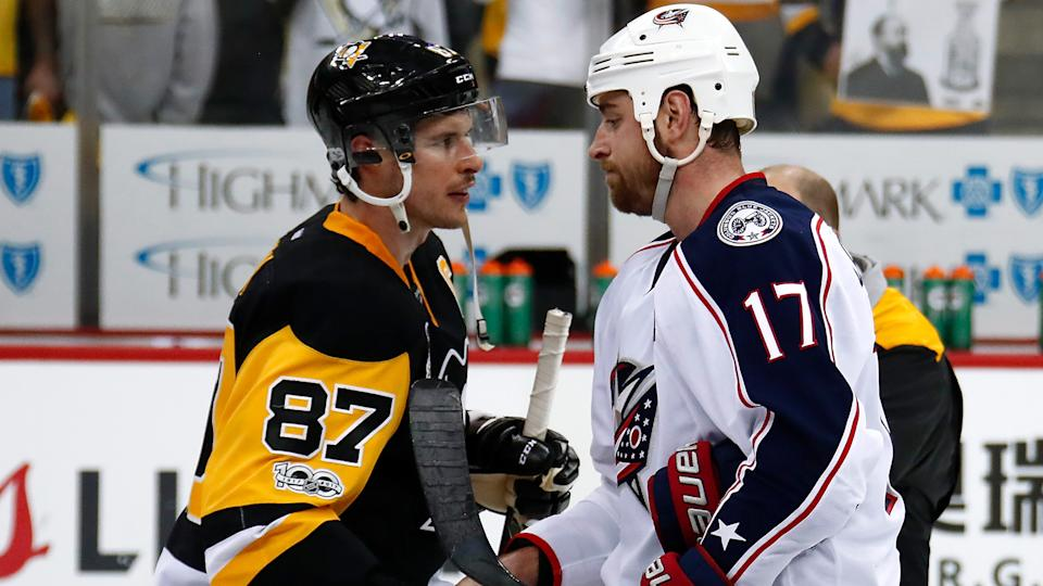 Brandon Dubinsky made it clear again this week that he really doesn't like Sidney Crosby. (Photo by Gregory Shamus/Getty Images)