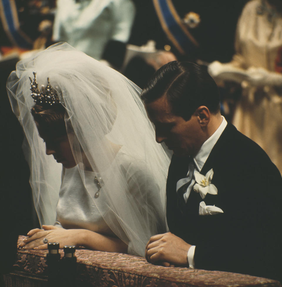 <p><b>The extravagant wedding of the Netherlands princess and her husband took place in Amsterdam in 1966. (Photo: Getty Images) </b></p>