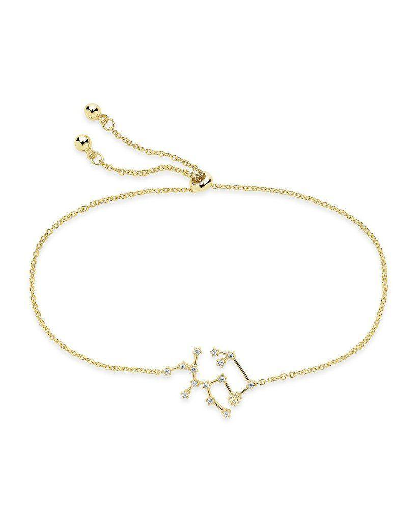"""<p><strong>Sterling Forever</strong></p><p>sterlingforever.com</p><p><strong>$58.00</strong></p><p><a href=""""https://go.redirectingat.com?id=74968X1596630&url=https%3A%2F%2Fwww.sterlingforever.com%2Fproducts%2Fconstellation-bracelet%3Fvariant%3D13131576442935&sref=https%3A%2F%2Fwww.seventeen.com%2Ffashion%2Fg34670591%2Fzodiac-gifts%2F"""" rel=""""nofollow noopener"""" target=""""_blank"""" data-ylk=""""slk:Shop Now"""" class=""""link rapid-noclick-resp"""">Shop Now</a></p><p>This cubic zirconia sagittarius constellation twinkles like the real thing. </p>"""