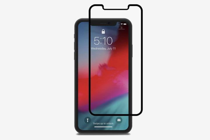 Moshi ionGlass Privacy Screen Protector on iPhone 11