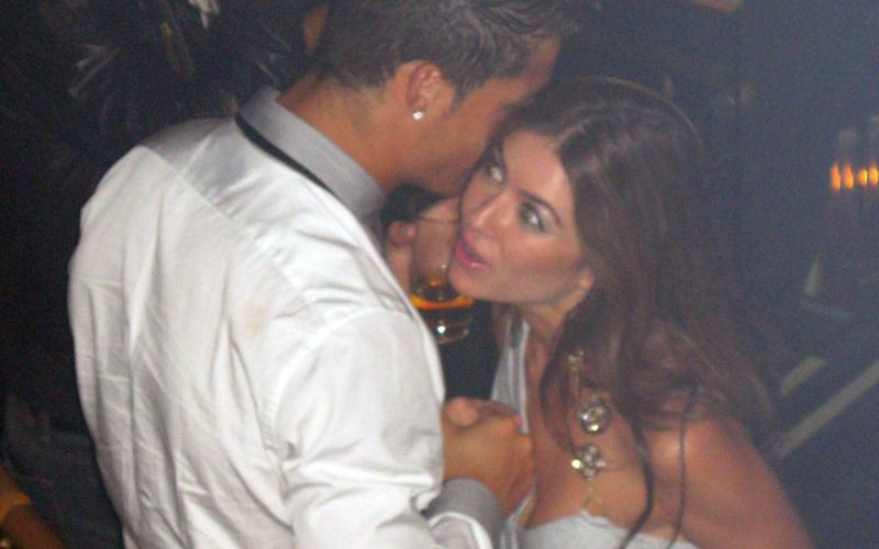 Cristiano Ronaldo pictured with Kathryn Mayorga in a Las Vegas nightclub in 2009. She has accused him of rape, but he insists their encounter was consensual - MATRIXPICTURES.CO.UK