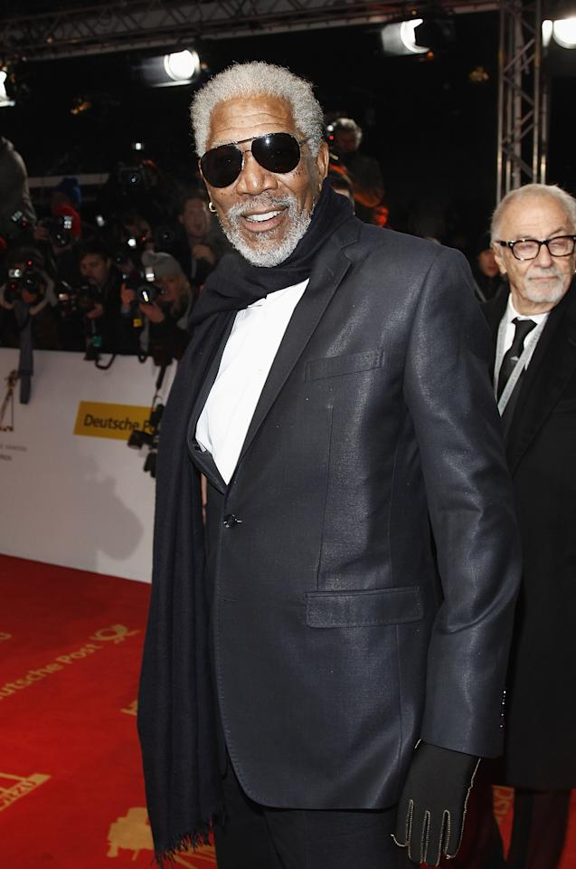 BERLIN, GERMANY - FEBRUARY 04:  Morgan Freeman attends the 47th Golden Camera Awards at the Axel Springer Haus on February 4, 2012 in Berlin, Germany.  (Photo by Andreas Rentz/Getty Images)