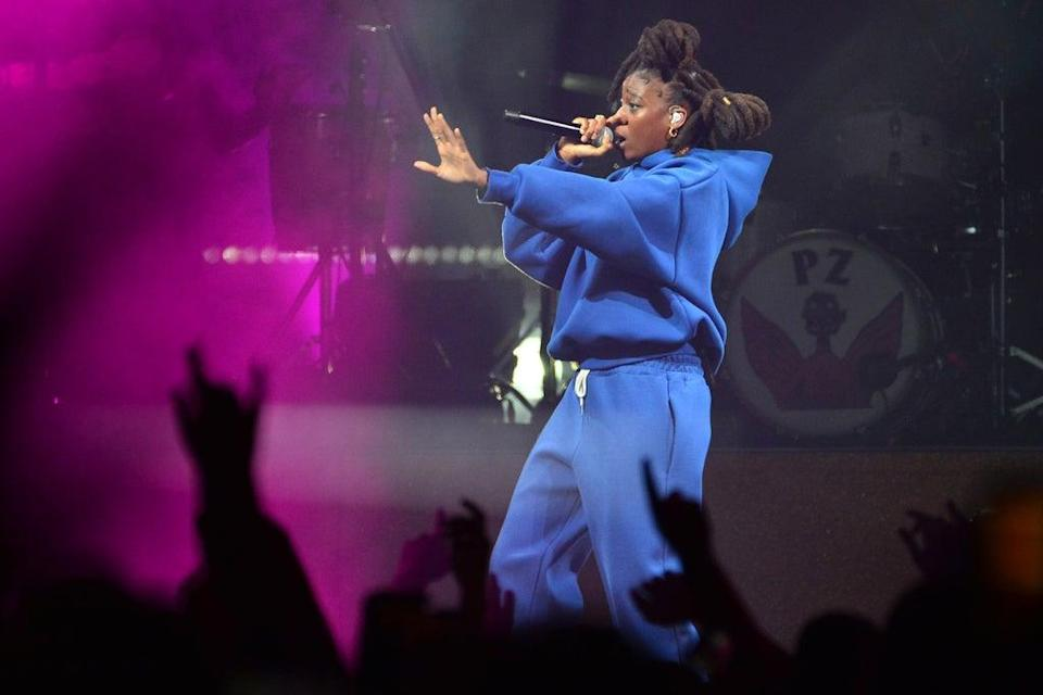 Little Simz performing with Gorillaz at the O2 (Getty Images)