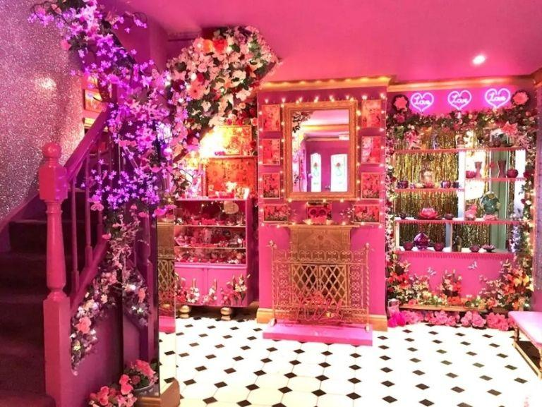 <p>The entrance hall assaults your senses with a mass of twinkly lights, flowers and colours. The couple hire out the property for £1,800 a night through Airbnb and through their own website, eatonhousestudio.com. </p>
