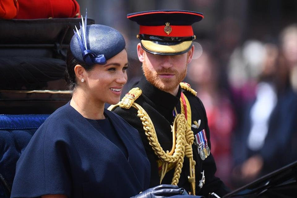 Harry and Meghan before they quit as senior royals (Victoria Jones/PA) (PA Archive)
