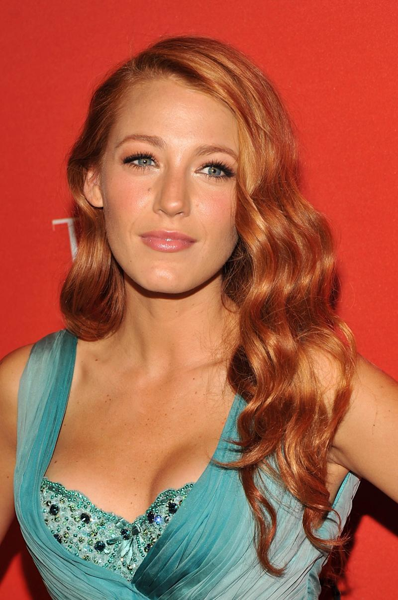 With red mermaid waves and a natural lip, Lively went glam at the TIME 100 Gala in 2011.