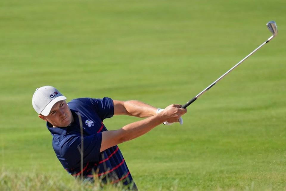 Jordan Spieth produced some magic at the Ryder Cup – and almost got wet for his trouble (Ashley Landis/AP/Press Association Images) (AP)