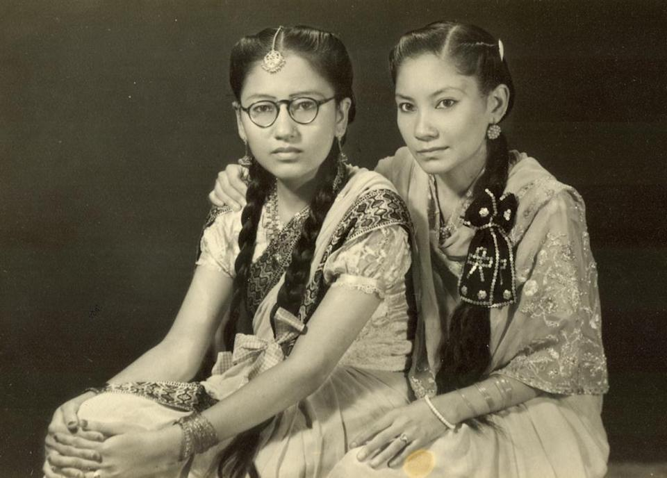 <p>Mehrunnisa Najma (right) in her youth</p> (Sam Jawed)