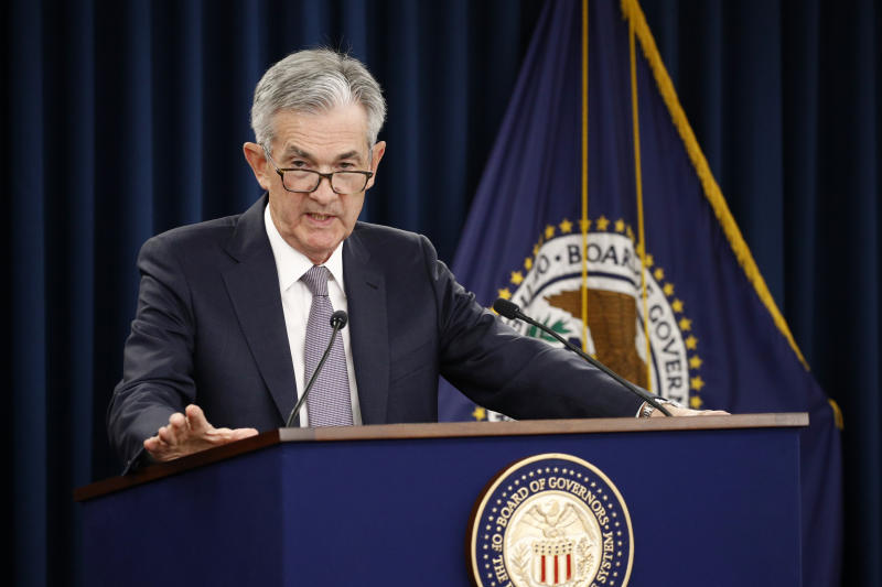 Federal Reserve Chairman Jerome Powell speaks at a news conference following a two-day Federal Open Market Committee meeting Wednesday, September 18, 2019 in Washington. (AP Photo / Patrick Semansky)