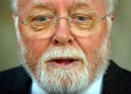 Sir Richard Attenborough attends [British television actor John Thaw's} memorial service at St Martin in the Fields church, London, September 4, 2002. Reuters
