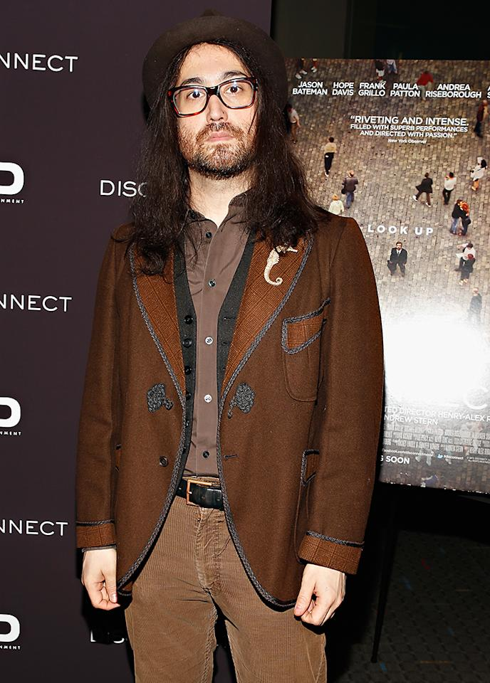 """NEW YORK, NY - APRIL 08:  Musician Sean Lennon attends the """"Disconnect"""" New York Special Screening at SVA Theater on April 8, 2013 in New York City.  (Photo by Cindy Ord/Getty Images)"""