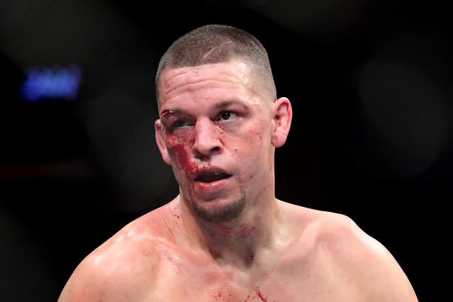 Nate Diaz is adamant he deserves a rematch with Jorge Masvidal. (Steven Ryan/Getty Images)