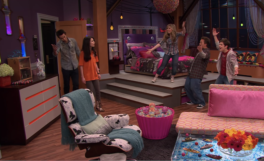Carly's very colorful new bedroom