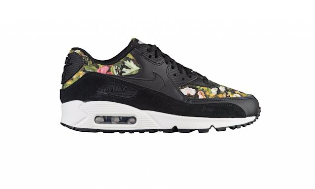 "<p>Air Max 90, $120, <a href=""http://www.footlocker.com/product/model:207325/sku:81105001/nike-air-max-90-womens/black/black/&SID=9114&inceptor=1&cm_mmc=SEM-_-PLA-_-Google-_-81105001&gclid=EAIaIQobChMIlKn_xI-H1QIVEoezCh0JAQ3eEAQYAyABEgI_EfD_BwE"" rel=""nofollow noopener"" target=""_blank"" data-ylk=""slk:footlocker.com"" class=""link rapid-noclick-resp"">footlocker.com</a> </p>"