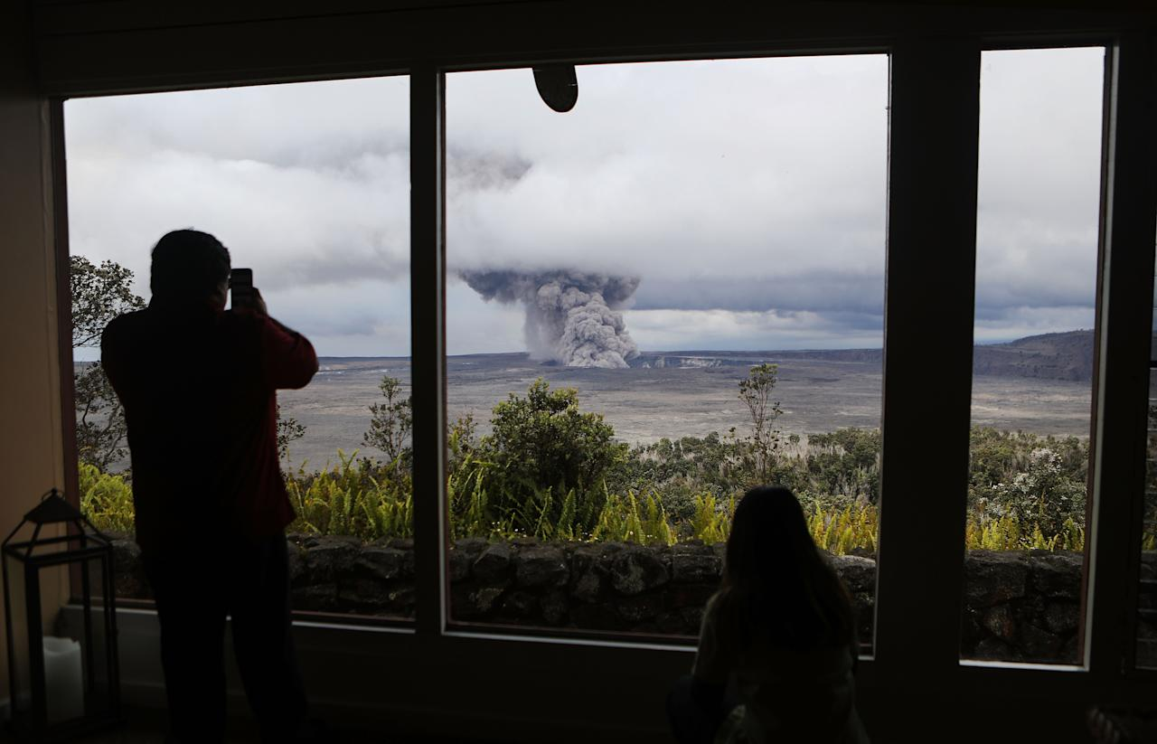 <p>Residents are on red alert, after fears emerged that the volcano could fully erupt (Getty) </p>