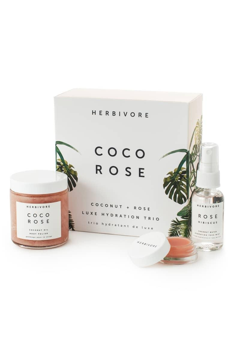 <p>Give the gift of relaxation with this <span>Herbivore Botanicals Coco Rose Luxe Hydration Trio</span> ($39).</p>
