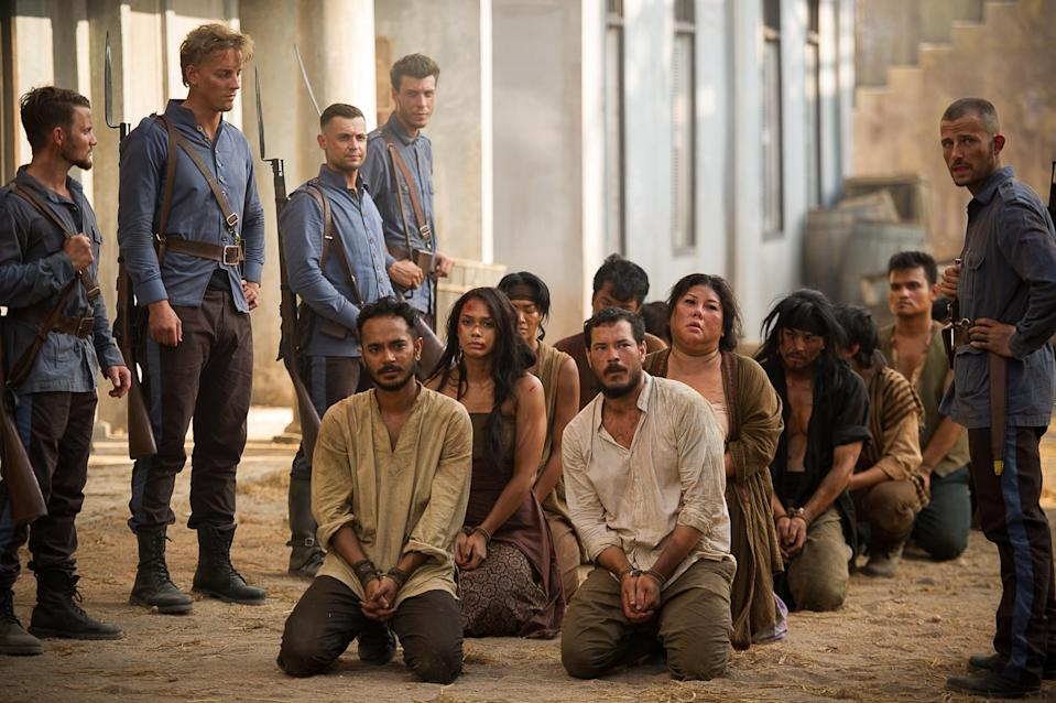 "The denizens of a town rebel against their Dutch rulers in colonial Indonesia in ""Grisse"". (Photo: HBO Asia)"