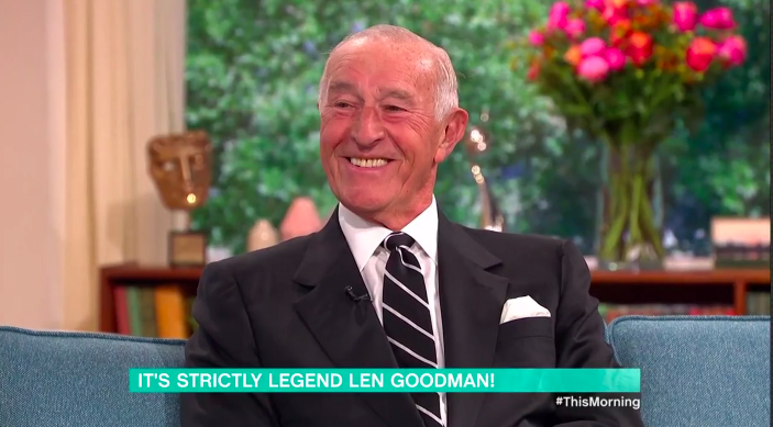 Len Goodman appeared on 'This Morning' to discuss the new series of 'Strictly Come Dancing'. (Credit: ITV)