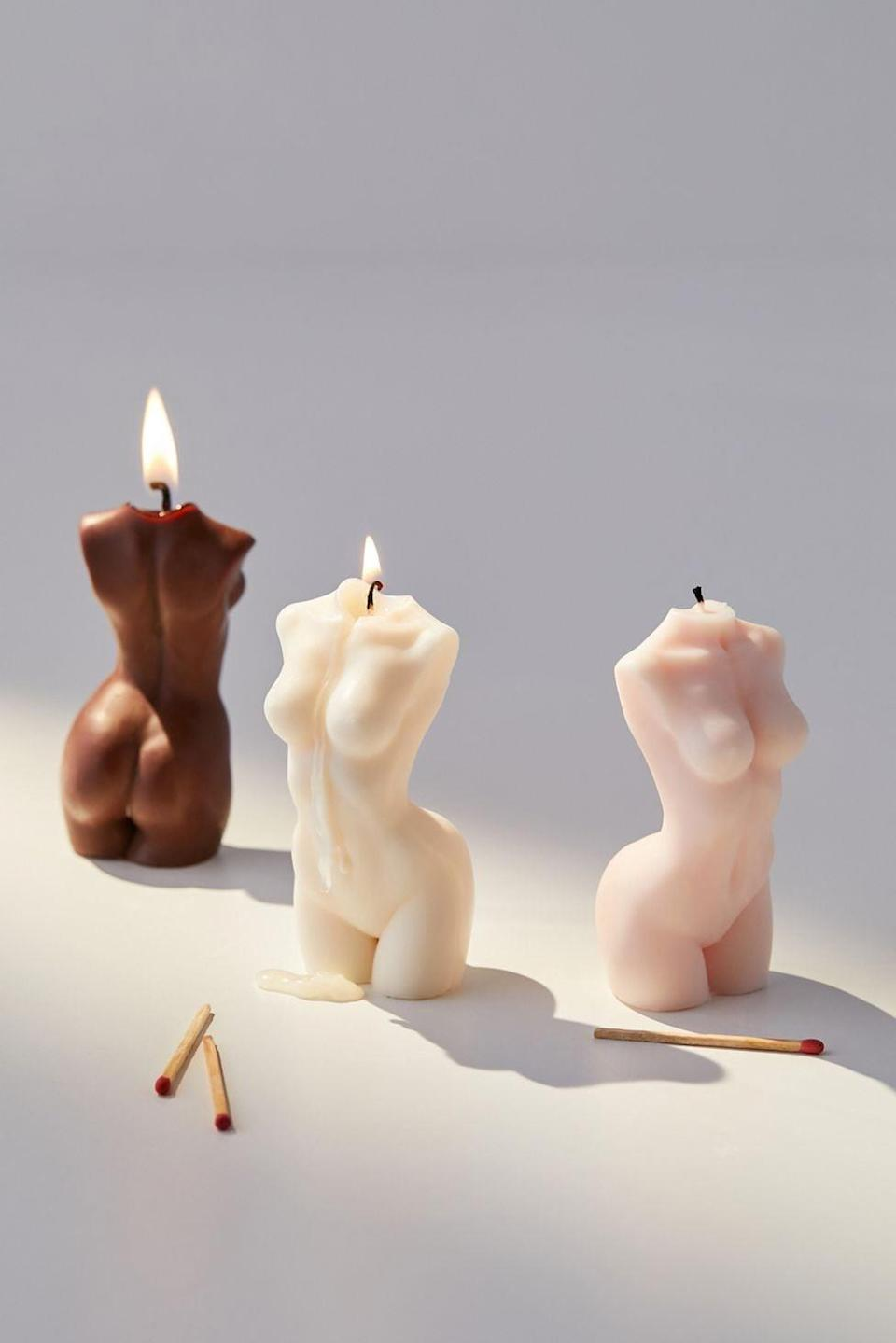 <p>The <span>Sainté.co Small Muse Candle</span> ($20) is such a gorgeous and empowering home decor find. It comes in brown, pink, and cream.</p>