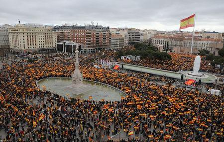 Right-wing opposition calls protest against PM Sanchez over Catalonia policy