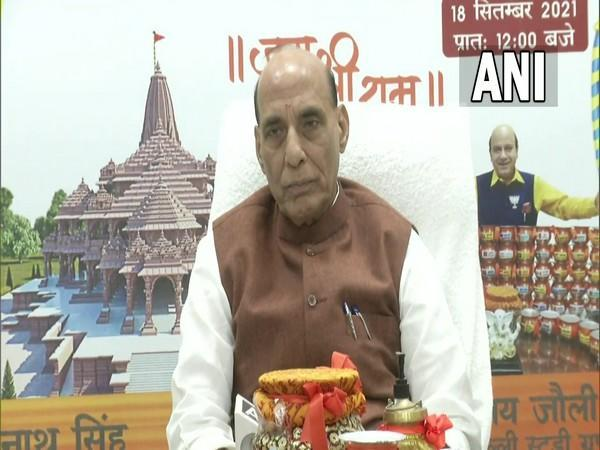 Defence Minister Rajnath Singh at an event in New Delhi on Saturday. (Photo/ANI)