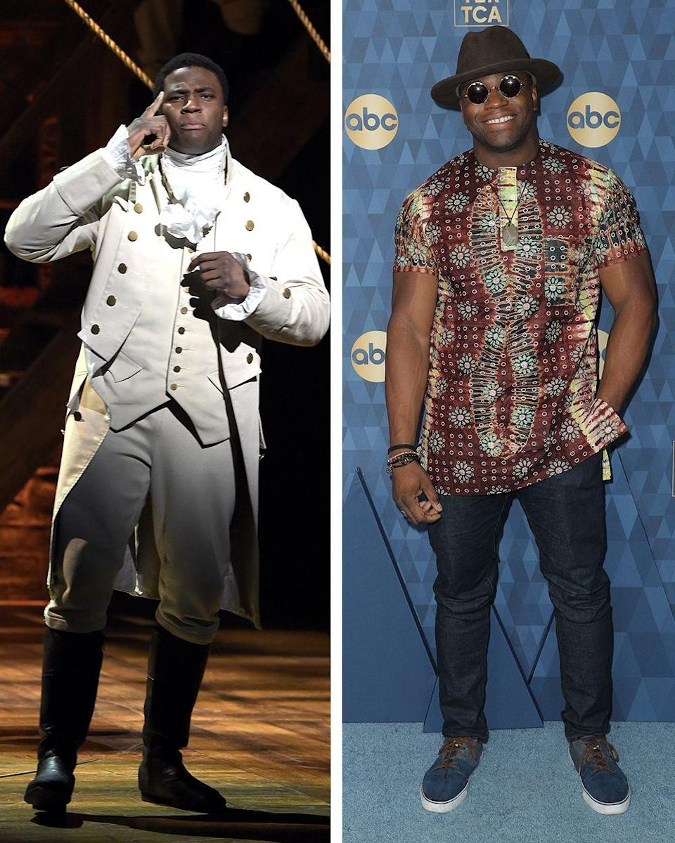 <p>Best known for his impressive <em>Hamilton </em>rap verses, Onaodowan continues to have a burgeoning entertainment career after his time in the show. In 2017, Onaodowan took on a lead Broadway role, replacing Josh Groban as Pierre in <em>Natasha, Pierre, and the Great Comet of 1812</em>. Currently, Onaodowan stars as Dean Miller in the <em>Grey's Anatomy</em> spin-off, <em>Station 19</em>. </p>