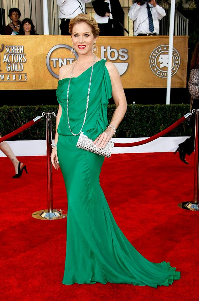 """<a href=""""/christina-applegate/contributor/33397"""">Christina Applegate</a> arrives at the <a href=""""/15th-annual-screen-actors-guild-awards/show/44244"""">15th Annual Screen Actors Guild Awards</a> held at the Shrine Auditorium on January 25, 2009 in Los Angeles, California."""