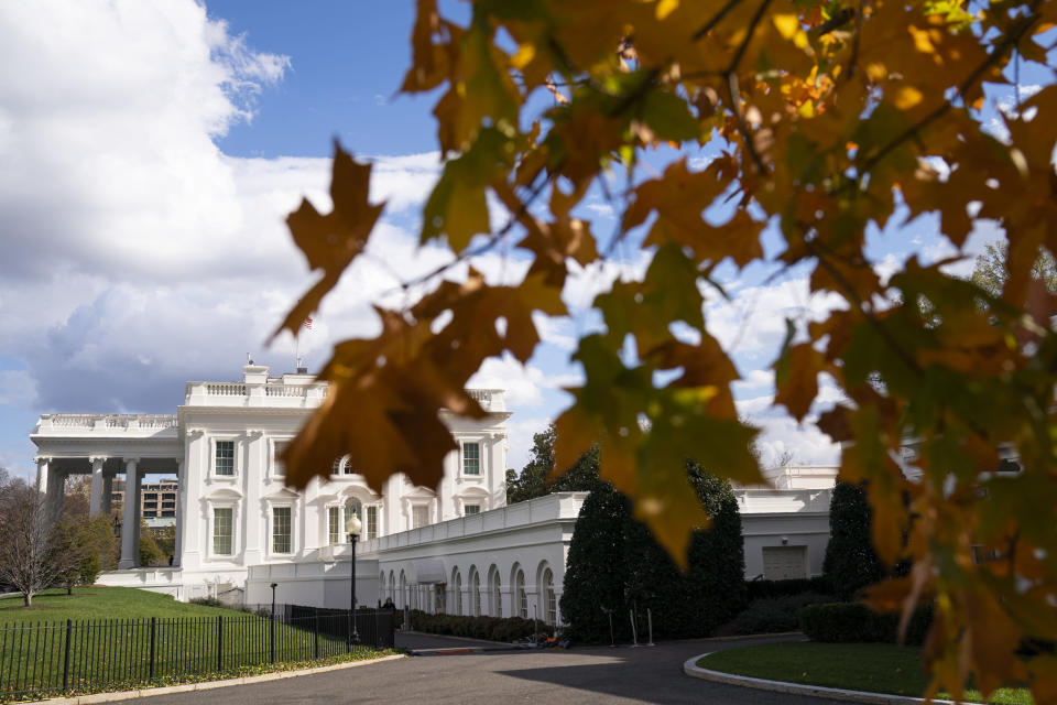 A view of the White House, Tuesday, Nov. 17, 2020, in Washington. (AP Photo/Evan Vucci)