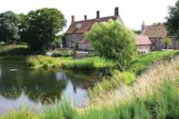"""<p>""""The pond has been here since medieval times and we have brown trout swimming around. This is one of the best features of our house, the water is so calming, and we get lots of birdlife around it all year round. In the summer, this terrace is where we spend most of our time.""""</p>"""
