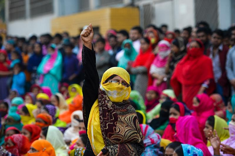 Garment workers in Bangladesh have been demanding a wage rise, closing factories and taking to the streets in huge marches