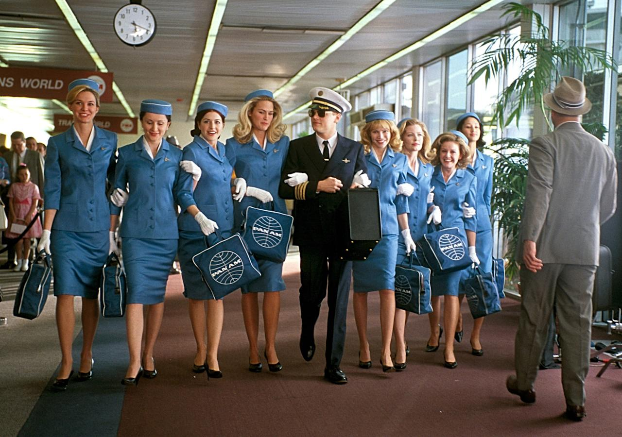 """The true story of conman Frank William Abagnale Jr., who before turning 18 successfully masqueraded as a pilot, doctor, and lawyer. As his forgeries increase, he's chased around the globe by FBI agent Carl Hanratty. With a stacked cast of Leonardo DiCaprio, Tom Hanks, Christopher Walken, Amy Adams, and Martin Sheen, this tense thriller—partially filmed in what is now the <a href=""""https://www.cntraveler.com/story/twa-hotel-is-almost-here-and-you-can-book-starting-on-valentines-day?mbid=synd_yahoo_rss"""">TWA Hotel</a>—manages to be a feel-good movie at the same time."""