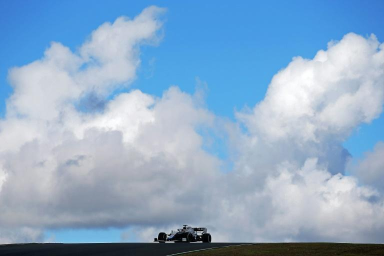 Clouds on the horizon as George Russell drives his Williams in practice at the Portuguese Grand Prix on Friday