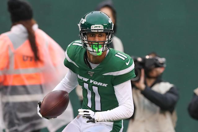 "Robby Anderson will be a <a class=""link rapid-noclick-resp"" href=""/nfl/teams/carolina/"" data-ylk=""slk:Carolina Panther"">Carolina Panther</a> in 2020. (Photo by Rich Graessle/Icon Sportswire via Getty Images)"