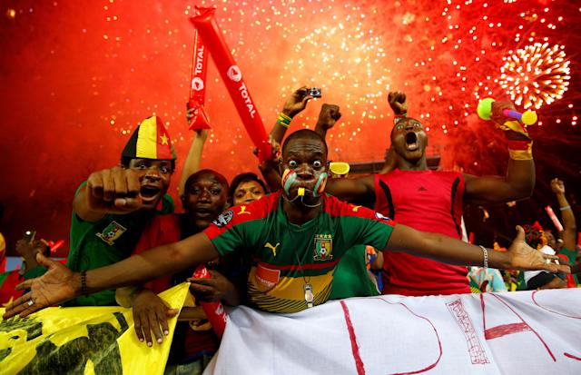 Football Soccer - African Cup of Nations - Final - Egypt v Cameroon - Stade d'Angondjé - Libreville, Gabon - 5/2/17 Cameroon fans before the match Reuters / Mike Hutchings Livepic TPX IMAGES OF THE DAY