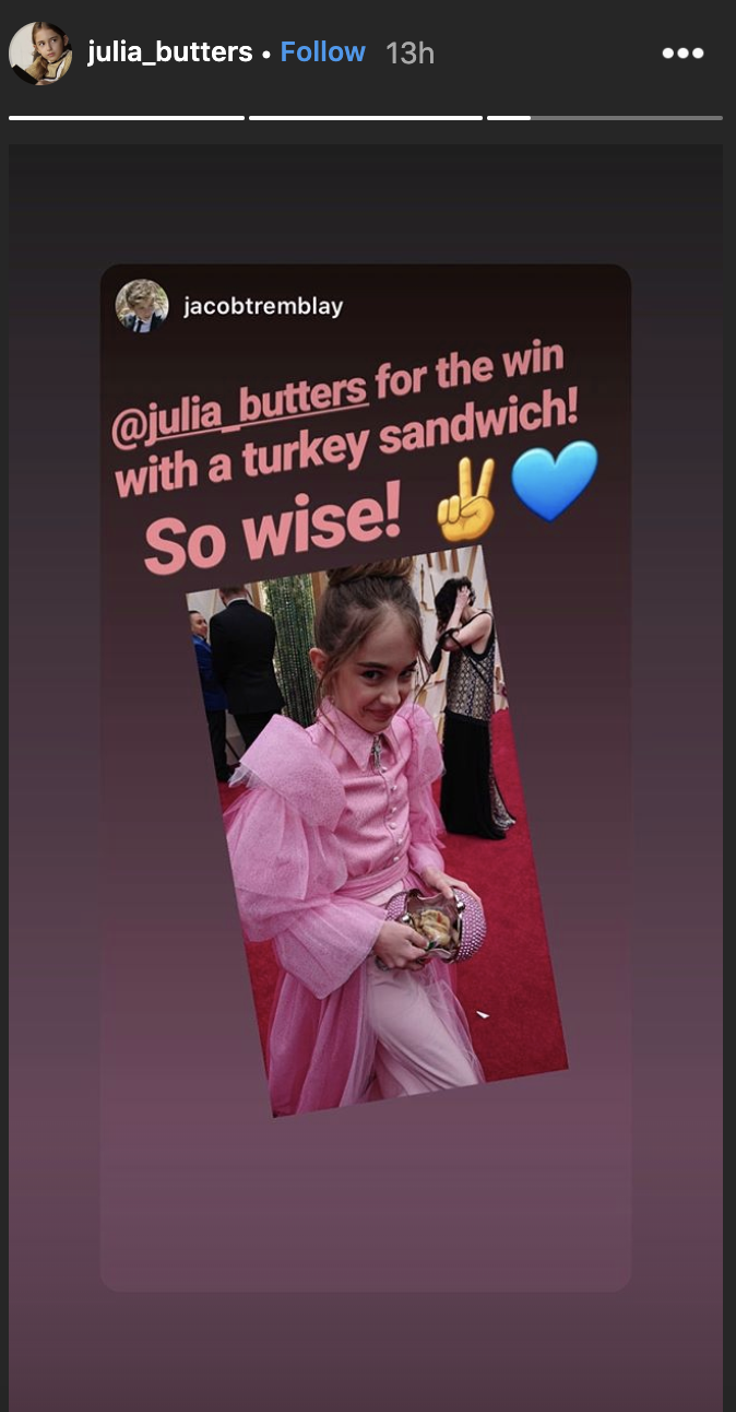 (Screenshot: Julia Butters via Instagram)