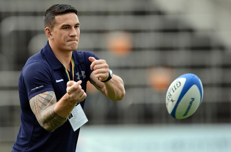 All Blacks centre Sonny Bill Williams, pictured during a training session in Tokyo, on September 1, 2012