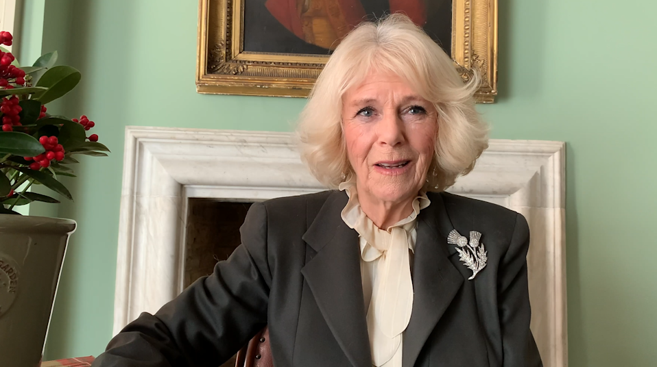 Camilla recorded a message for the University of Aberdeen's virtual Extraordinary Burns Supper. Clarence House