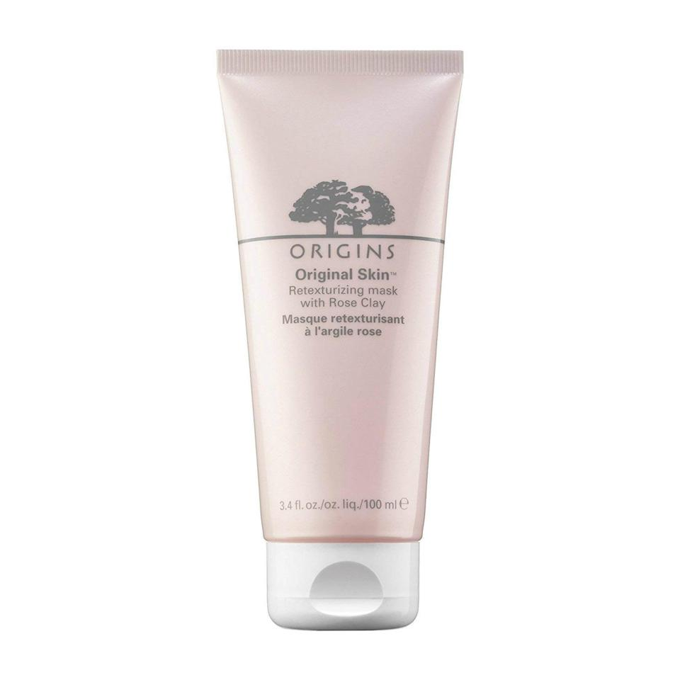 """<p>The Origins Original Skin Retexturizing Mask with Rose Clay is adored by many a beauty editor, and it's easy to see why: It instantly minimizes the appearance of pores and leaves your complexion looking beyond glowy — and clocks in at under $30.</p> <p><strong>$26</strong> (<a href=""""https://shop-links.co/1649919820309427529"""" rel=""""nofollow noopener"""" target=""""_blank"""" data-ylk=""""slk:Shop Now"""" class=""""link rapid-noclick-resp"""">Shop Now</a>)</p>"""