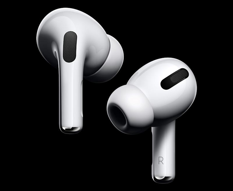 Apple's AirPods Pro feature active noise cancelling technology, a new design, and a number of other great features. (Image: Apple)